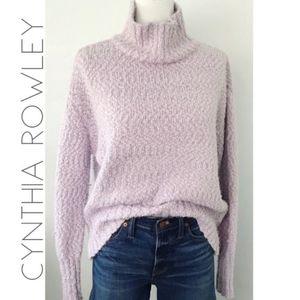 Cynthia Rowley Knit Turtle Neck Sweater – Purple L